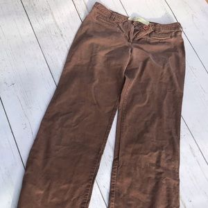 Anthropologie wise leg chocolate trouser.
